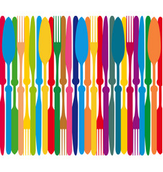 Dining color plate vector