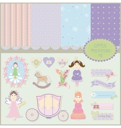Little princess set vector