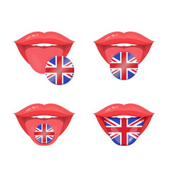 English flags set vector