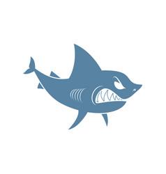 Shark isolated marine predator on white background vector