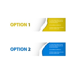 Set of torn off Sample option stickers vector image