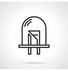Dot diode black line icon vector