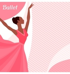Invitation card to ballet dance show with vector image