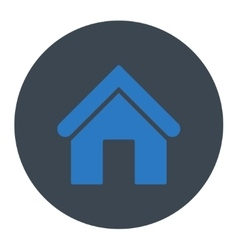 Home flat smooth blue colors round button vector