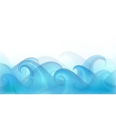 Abstract background with stylized waves vector