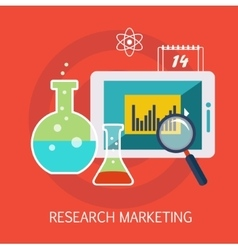 Research Marketing Concept Art vector image