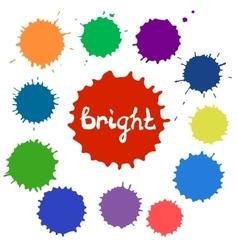 Set of bright color spots vector
