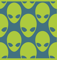 alien seamless pattern space invaders background vector image