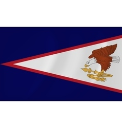 American samoa waving flag vector