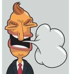 angry businessman speaking vector image