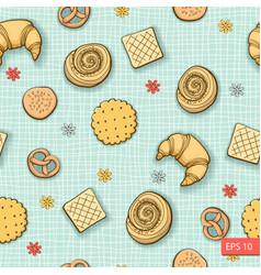 Bakery produkts seamless pattern vector