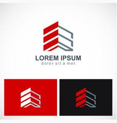 building shape construction company logo vector image vector image