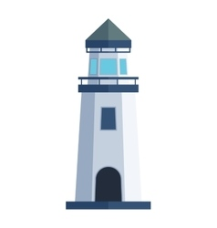 cartoon flat lighthouse vector image vector image