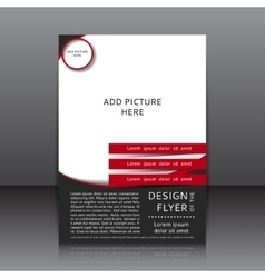 design of the black and red flyer vector image