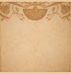 egyptian parchment background vector image vector image