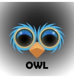 Eyes of a owl in the darkness vector