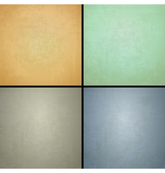 four vintage backgrounds vector image