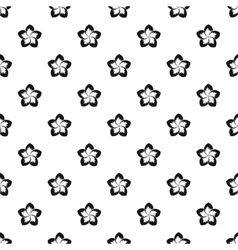 Frangipani flower pattern simple style vector