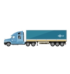 Freight truck isolated on white background vector image vector image