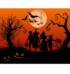 Halloween children vector image vector image