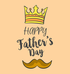 Happy father day over brown background vector