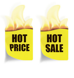 hot price hot sales labels vector image
