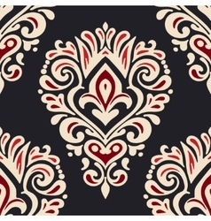 Luxury damask seamless tiled motif pattern vector