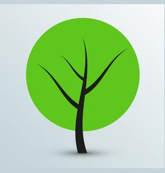 Modern flat green tree icon vector