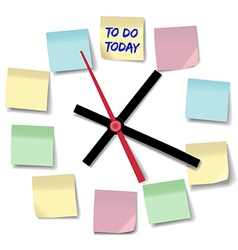 Notes appointment busy to do clock vector image vector image