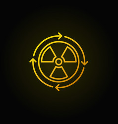 nuclear power concept yellow icon vector image