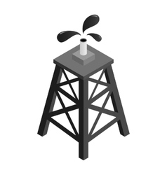 Oil rig isometric 3d icon vector image