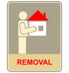 removal sign vector image vector image