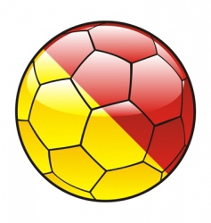 Sicily flag on soccer ball vector image vector image