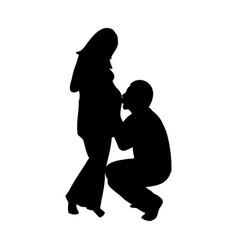 Silhouette men and women vector