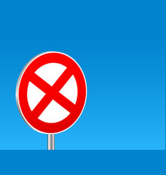 stopping sign background vector image