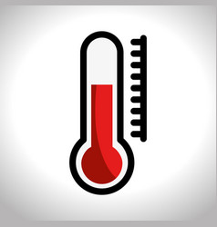 thermometer sign isolated icon vector image