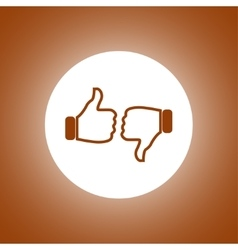 Thumb up icon flat design vector image vector image