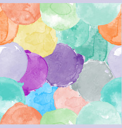 watercolor seamless pattern in different colors vector image