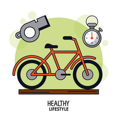 White background poster of healthy lifestyle with vector