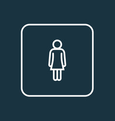 woman outline symbol premium quality isolated vector image