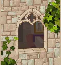 Medieval window vector