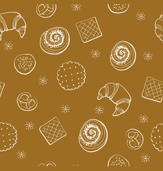 bakery produkt seamless pattern vector image