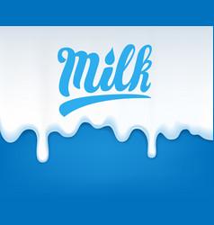 Drip of milk vector