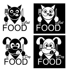Cat and dog food vector