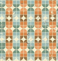 Vintage bright geometric seamless pattern elliptic vector
