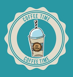Coffee time vector