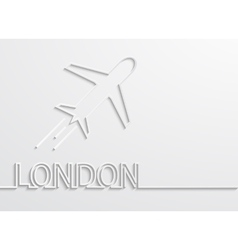 Modern london capital background vector