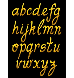 Handwritten abc set vector
