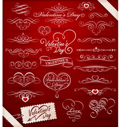 decorative elements on valentines day vector image