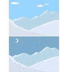 Mountain landscape in day vector